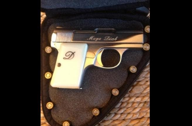 Maya Diab's new pistol