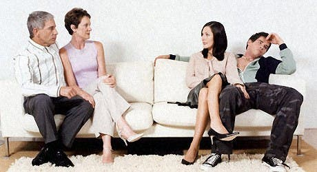 Meet the parents: When a boyfriend brings you home to meet his parents- certainly in the Arab culture- it is not wise to show affection openly at this critical stage, much less when you are married!