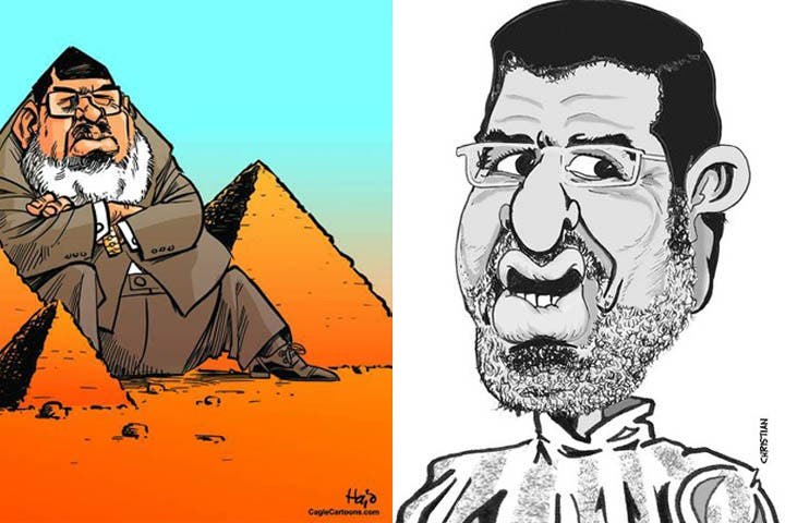 Many of the Egyptian artists are having a field day with deposed President Morsi.