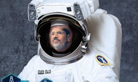 The April 6 Youth Movement wants Morsi to be sent into orbit