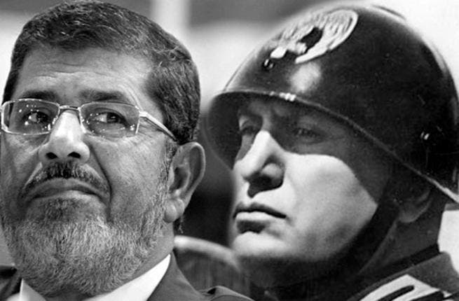 A portmanteau of Mursi and Benito Mussolini, the new tag is just one example of how Mursi's decree drew fire.