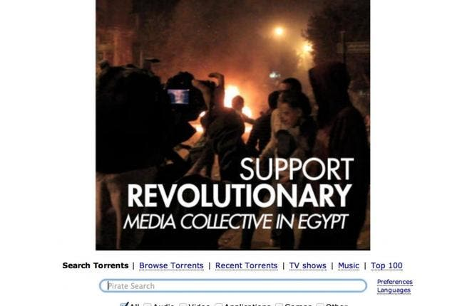 The Pirate Bay supports Mosireen's campaign.