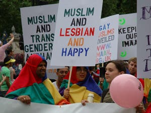 Muslims protesting for gay unions
