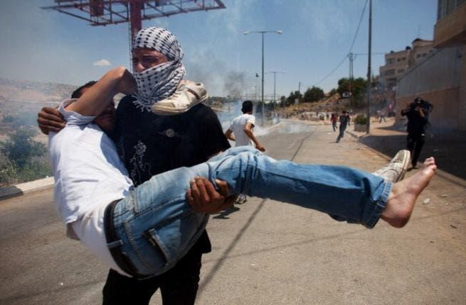 Palestinian demonstrators injured at this year's Nakba protests