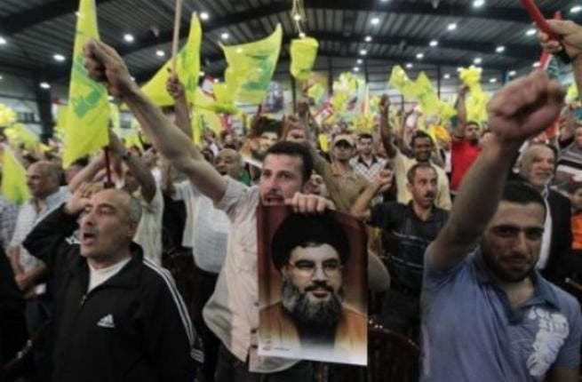 Hezbollah supporters rally in Beirut.