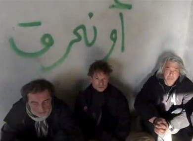 At least 52 journalists have been killed covering the Syrian conflict. Here, footage from an amateur video shows NBC chief foreign correspondent Richard Engel and several colleagues after they were abducted by an armed gang in Syria. (Image via thejournal.ie)