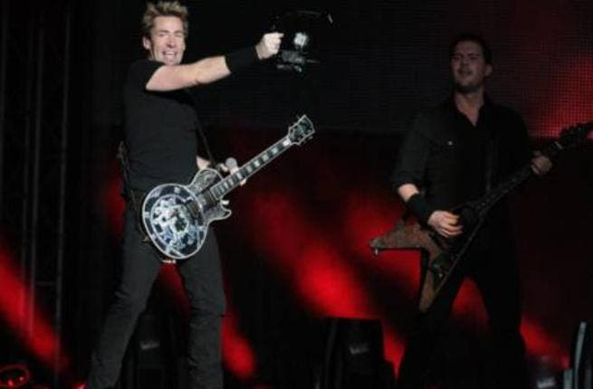 Nickleback rocking out in Abu Dhabi at the weekend (Photo: Ahmed Kutty / Gulf News)