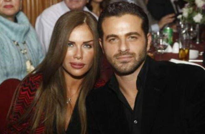 Nicole Saba with hubby Youssef El Khal.