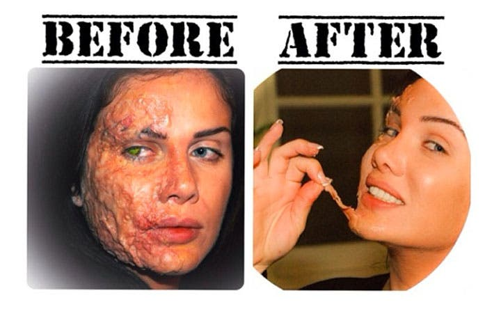 The Before and After look Nicole Saba endured for her role in the film