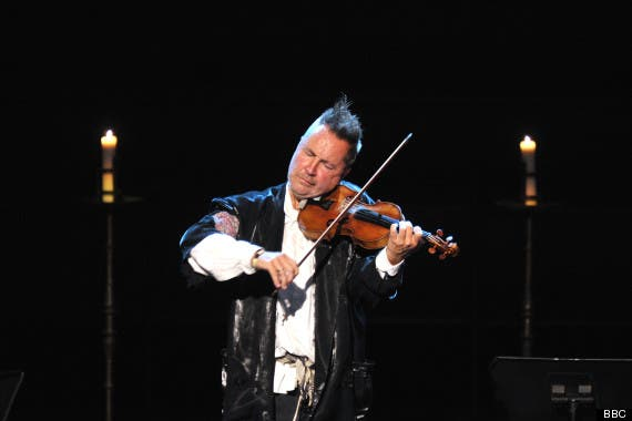 Violinst Nigel Kennedy is being censored by the BBC after likening the rule of the Israeli government to the apartheid in South Africa. (Image courtesy of the BBC)