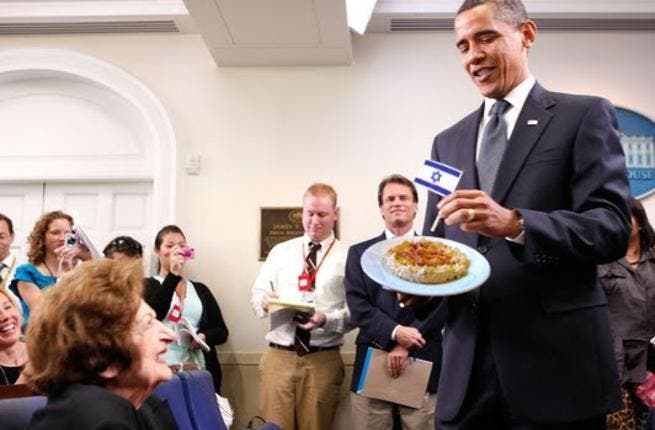 Obama's no stranger to Israeli food but it's the first time he's visited the country in full Passover preparation mode