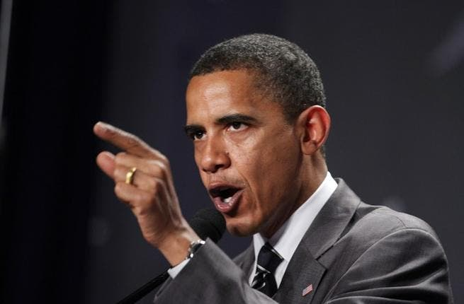 Obama says 'No, you cannot!' to Palestine (Image used for illustrative purposes only)