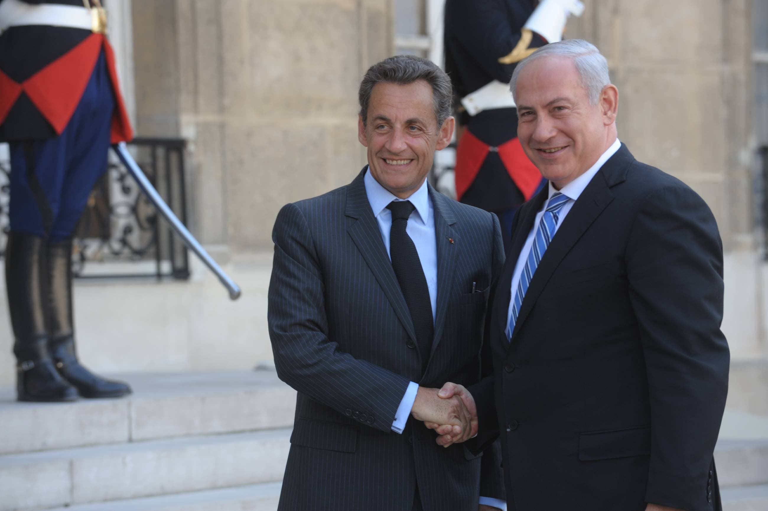 Israel's Netanyahu must have felt more hurt or at least double dealt by the US's Obama, than betrayed by France's Sarkozy, who has not  had a the strong history of undying allegiance to Israel that the US is notorious for. France voted to pass Palestine's bid for  UNESCO.