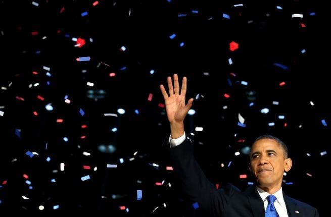Obama takes the victor's spoils in 2012's historic election