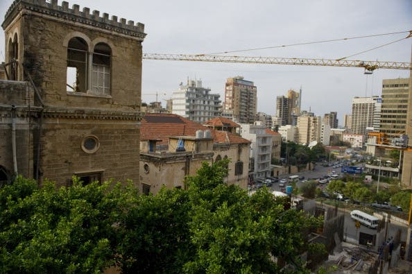 Old bricks and metal cranes, the battle has begun in Beirut. (Getty images)