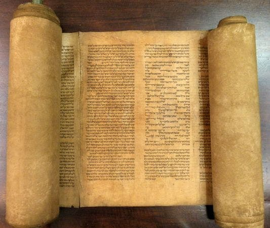 The Torah in question. Image courtesy of the University of Bologna