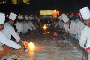 Last Tuesday Hurghada hosted a world record attempt for cooking the largest ever Om Ali (Photo: Daily News Egypt)