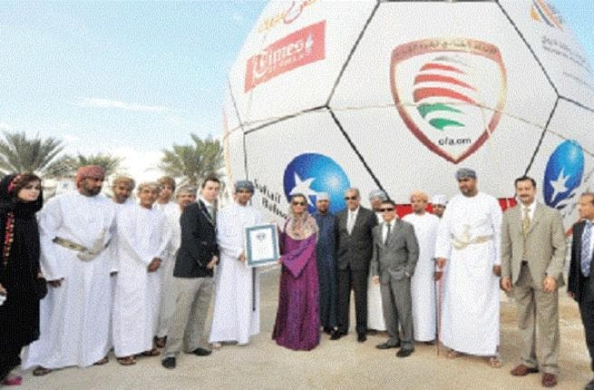 Oman has reportedly made the world's largest football (Photo courtesy of Times of Oman)