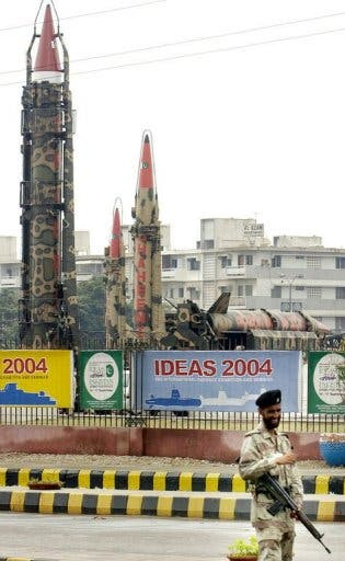 Pictured: Pakistan's nuclear weapons