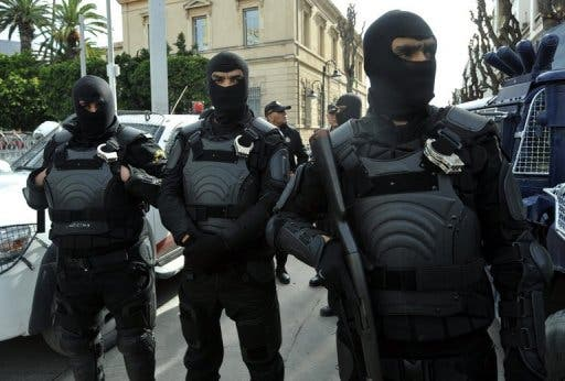 Tunisian security forces conducted operations last week that killed ten alleged terrorist militants one day prior to the fatal clashes in Sidi Bouzid that left eight policemen dead (AFP)