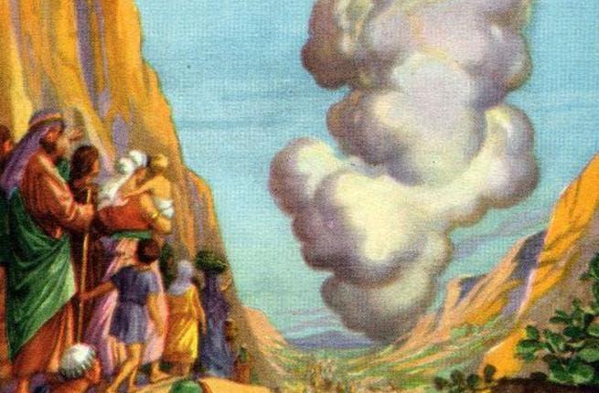 Pillar of cloud (Picture: Crossandcutlass.blogspot.com)