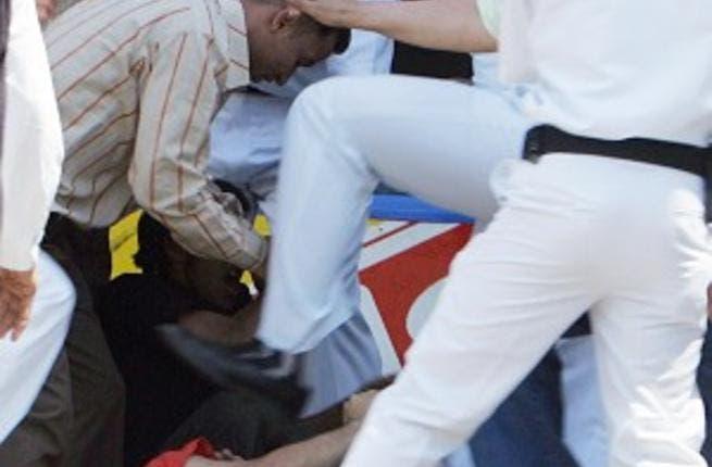 Police brutality in Egypt (Photo courtesy of aminelmasry.wordpress.com)