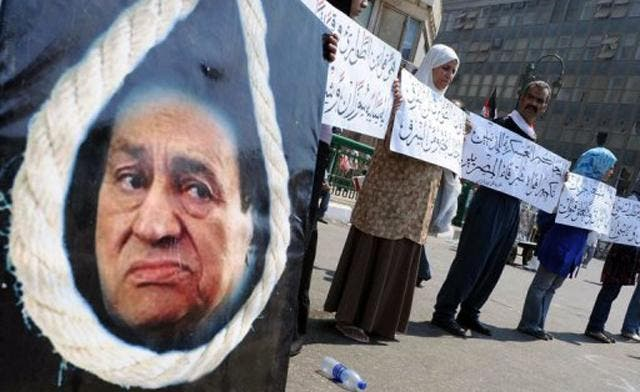 Some wished death upon former president Mubarak, but instead he got a life sentence