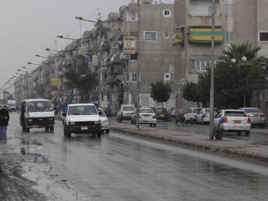 Inclement weather in Alexandria.  The weather creates the only storm at Egypt's first round of elections which otherwise go off better than expected.