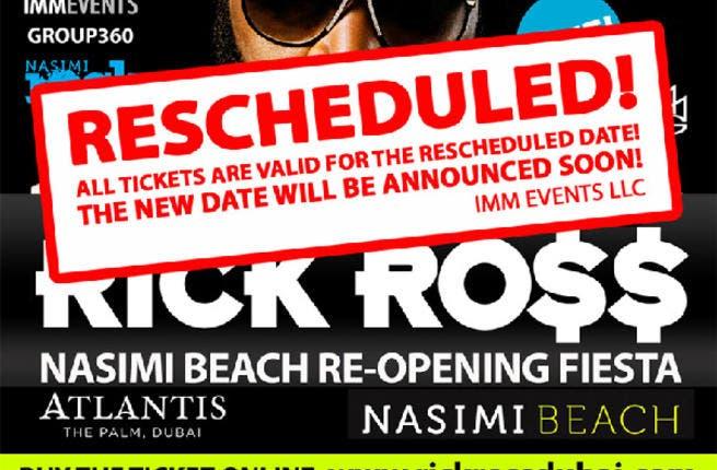 Rick Ross concert: Rescheduled