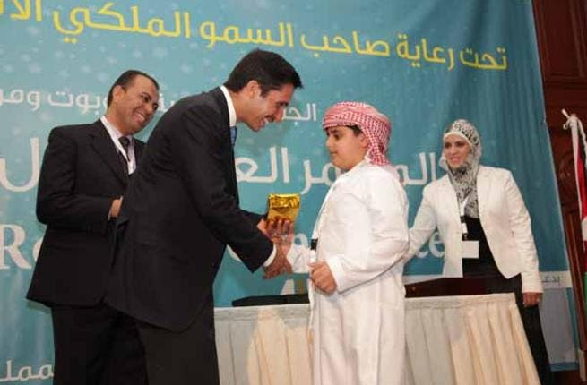 Eight-year-old Adeeb Sulaiman from Dubai, the youngest participant in the first Arab Robotics Conference (Photo: KHF)