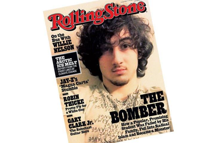 Dzhokhar Tsarnaev on the cover of Rolling Stone magazine. (Image: Naharnet)