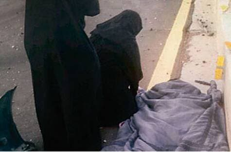 Salwa Juma Al Khobairi was in a car on the Madina-Khaybar highway in western Saudi Arabia when she saw a crowd of people around a man who was bleeding as a result of an accident.