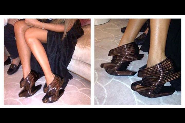 The fabulous shoes Maya bought for her birthday. (Image: Facebook)