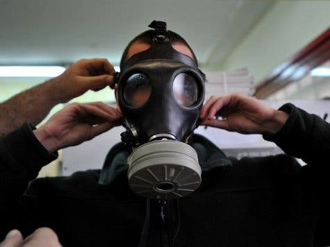 Just over 65 percent of Syria's internationally declared chemical weapons stockpile has been removed from the war-torn country, the Associated Press reported. (AFP/File)