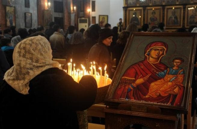 Syria today: Bab-Tuma, a Christian district in capital Damascus, lights candles for peace at Christmas