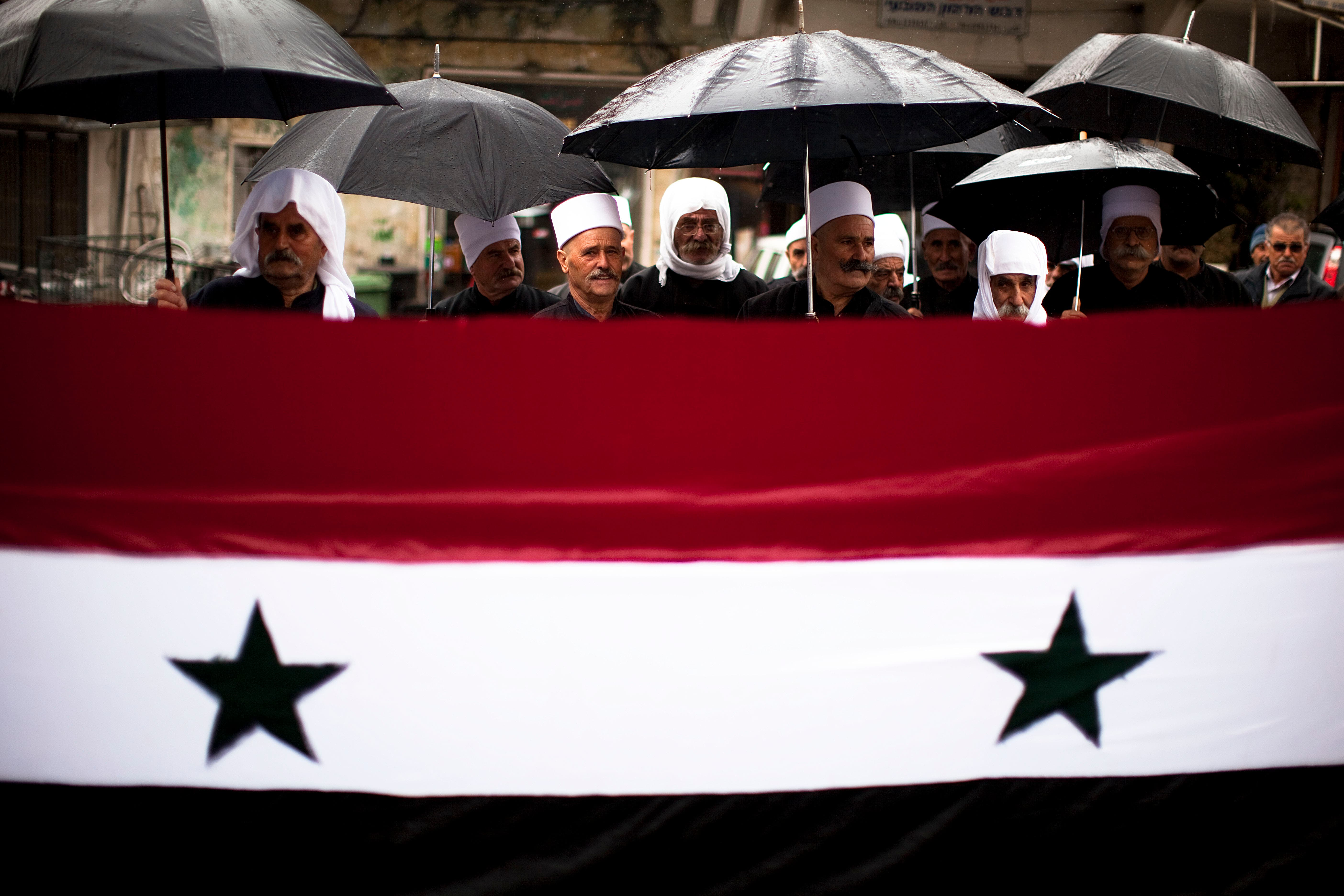 Syria has a diverse community, usually quite subdued.