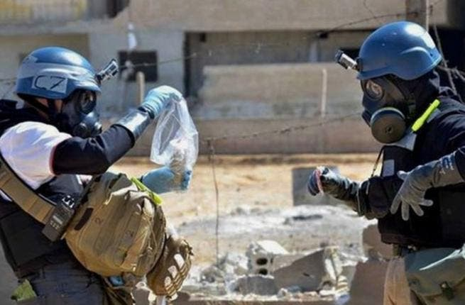 OPCW inspectors visited 21 of the 23 chemical production sites in October, but were unable to visit the Aleppo facility along with one other due to security concerns (Courtesy of BBC)
