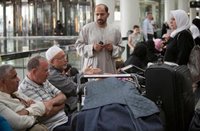 Hajj pilgrims wait at Beirut airport (Photo: Mahmoud Kheir)