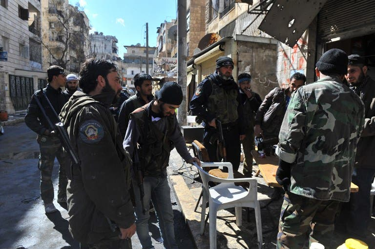 Syrian rebels in Aleppo (AFP image used for illustrative purposes)