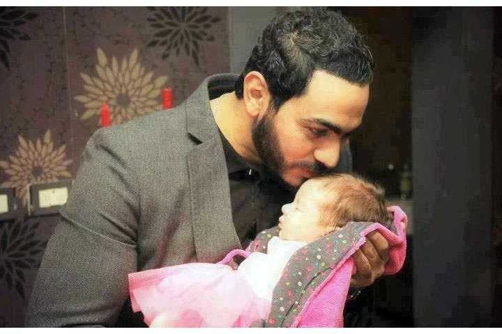 Tamer Hosny with his beautiful little girl Talia. (Image: Alonota.com)