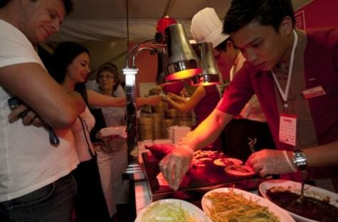 Visitiors wait to taste Peking duck at The China Club (Oliver Clarke) (Gulf News)