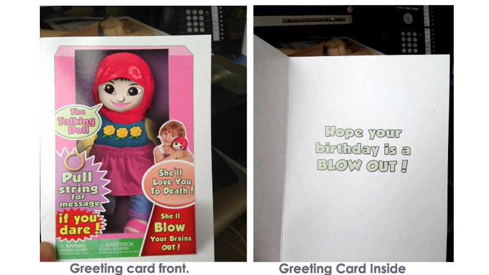 The card shows a Muslim girl in a hijab