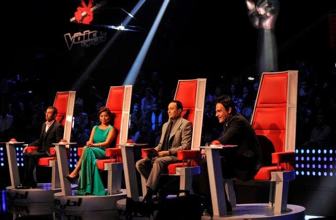 The coaches made themselves comfortable for the first live show of MBC's The Voice