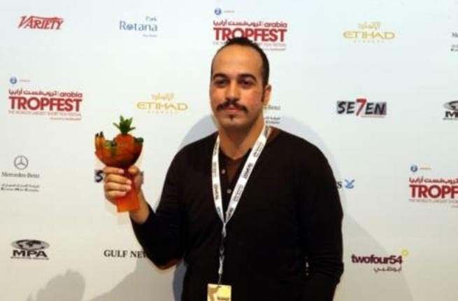 Mohamed Hussen Anwar after winning 'Director of Best Film' for Undamageable (Photo: Abdul Raham)