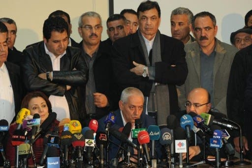 Tunisia's UGTT labor union leader, Houcine Abbassi, announced Saturday that Mehdi Jomaa will serve as the interim Prime Minister for the country's government transition (Salah Habibi/AFP)