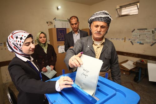 Nearly three million Iraqi Kurds are eligible to vote in Saturday's elections (Courtesy of Shutterstock)