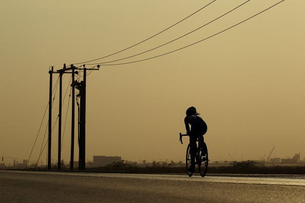 Photo of a woman cycling used for illustrative purposes (Getty)