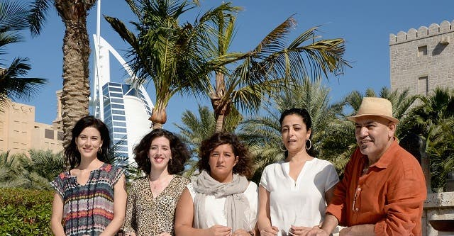 Cherien Dabis (May in the Summer), Jinan Colter (Searching for Saris) and others at the DIFF 2013. (Image: Arabian Gazette)