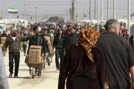 Jordan says it is currently hosting more than 500,000 Syrian refugees and the United Nations High Commissioner expects the number to soar to 1.2 million by the end of 2013.
