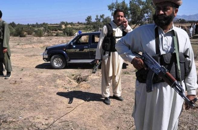 Ready to respond after the first attack on Hanfi, an anti-Taliban militia leader. [tribune]